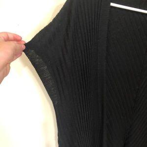 Short sleeve ribbed cardigan